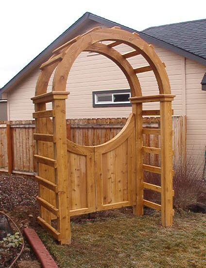 Project Garden Gate Arbor The HomeFix Radio Show